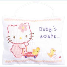 Hello Kitty - Baby sleeping, awake - kruissteekpakket met telpatroon Vervaco |  | Artikelnummer: vvc-150203