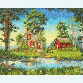 Summer Cottage - borduurpakket met telpatroon Dimensions |  | Artikelnummer: dim-70-35340