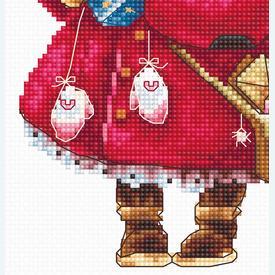 Christmas Pig - borduurpakket met telpatroon Luca-S |  | Artikelnummer: luca-b1153