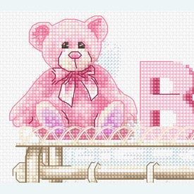 Baby Girl Birth - kruissteekpakket met telpatroon Luca-S |  | Artikelnummer: luca-b1175