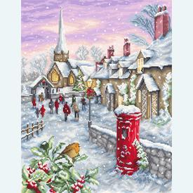 Christmas Eve - borduurpakket met telpatroon Luca-S |  | Artikelnummer: luca-b2361