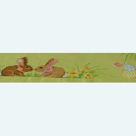 Easter Bunnies theenap - voorgedrukt borduurpakket - Vervaco |  | Artikelnummer: vvc-150409