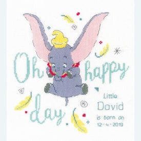 Dumbo - Oh Happy Day - Disney borduurpakket met telpatroon Vervaco |  | Artikelnummer: vvc-176205