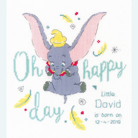 Dumbo - Oh Happy Day - Disney borduurpakket met telpatroon Vervaco |  | Artikelnummer: vvc-176205