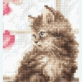 Kitten - borduurpakket met telpatroon Letistitch |  | Artikelnummer: leti-976