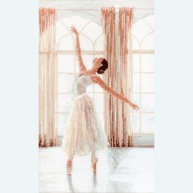 Ballerina - borduurpakket met telpatroon Letistitch |  | Artikelnummer: leti-906