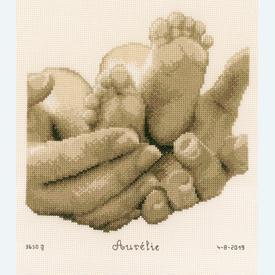 Baby Feet - kruissteekpakket met telpatroon Vervaco |  | Artikelnummer: vvc-153837
