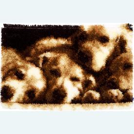 Sleeping Dogs - knooptapijt Vervaco  | Smyrna tapijt met slapende Labradors | Artikelnummer: vvc-155040