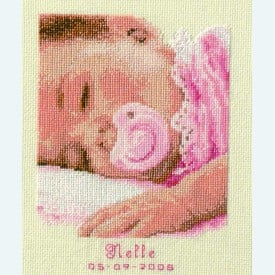 Sweet Dreams Baby Girl - kruissteekpakket met telpatroon Vervaco |  | Artikelnummer: vvc-45696