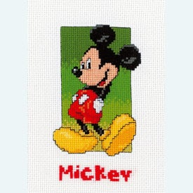 Mickey - Disney borduurpakket met telpatroon Vervaco  |  | Artikelnummer: vvc-19063