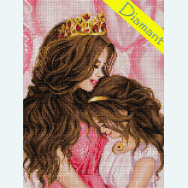 My Princess - Diamond Painting pakket - Diamond Art | Pakket met vierkante diamantjes | Artikelnummer: da-az-1691