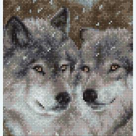 Wolves - kruissteekpakket met telpatroon Luca-S |  | Artikelnummer: luca-b2291