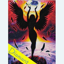 Dark Angel - Diamond Painting pakket - Diamond Art | Pakket met vierkante diamantjes | Artikelnummer: da-az-1799