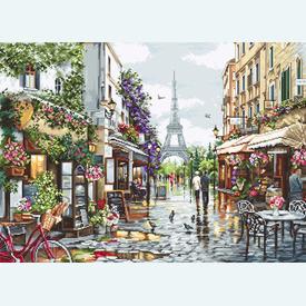 Paris in Flowers - kruissteekpakket met telpatroon Luca-S |  | Artikelnummer: luca-b2365