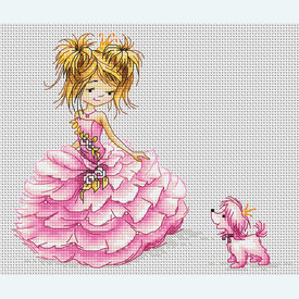 The Princess - borduurpakket met telpatroon Luca-S |  | Artikelnummer: luca-b1056