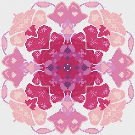 Mandala Pink - borduurpakket met telpatroon Nafra |  | Artikelnummer: nf-nafra21031