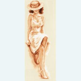 White Seduction by Selime - borduurpakket met telpatroon Vervaco - aida |  | Artikelnummer: vvc-75168