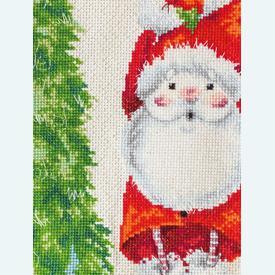 Santa Christmas Stocking - borduurpakket met telpatroon Luca-S |  | Artikelnummer: luca-PM1227