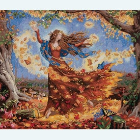 Fall Fairy - borduurpakket met telpatroon Dimensions |  | Artikelnummer: dim-70-35262