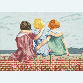 Best Friends - borduurpakket met telpatroon Janlynn |  | Artikelnummer: jl-021.0128