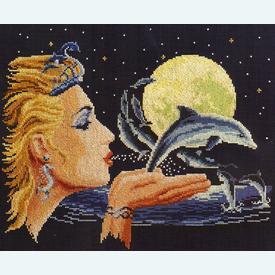 Dolphin Princess by Robin Koni - kruissteekpakket met telpatroon Vervaco |  | Artikelnummer: vvc-76609
