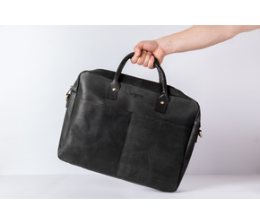 Briefcase No 1-1 (M)   | Anthracite-Black | Artikelnummer: HR-BC-1-1_b