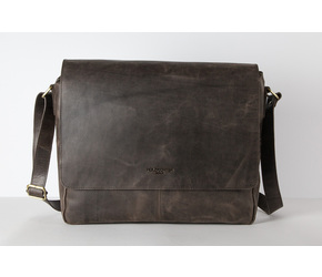 Messenger Bag No 2-1 (M) | Dark-Brown | Artikelnummer: HR-SA-2-1_db2