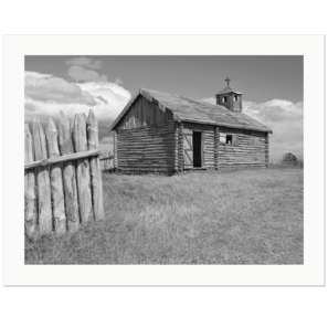 Fort Bullnes, Church |  near Punta Arenas, Strait of Magellan, Patagonia, Chile, 2019 | Edition Print 24   unlimitiert | Bildnummer: X1d_190124_024bw-24