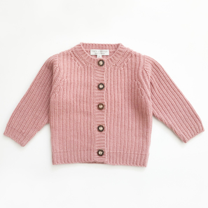 Cardigan NOVA with Half Fisherman's Rib | 100% Cashmere, Colour: Cameo Rose | Code: BC12018091XXX