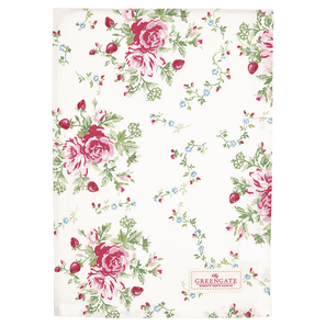 Greengate Mary white   | Tea towel Mary white  , Geschirrtuch, 50 x 70 cm | Artikelnummer: COTTEAMRY0112