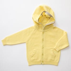 Hoody Cardigan | 100% Cashmere, Colour: Light Yellow | Code: 0716BC0501yyXXX