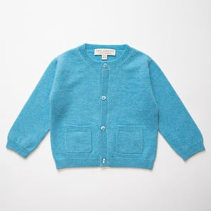 Cardigan KIM | 100% Cashmere, Colour: Medium Blue | Code: BC30a018034XXX