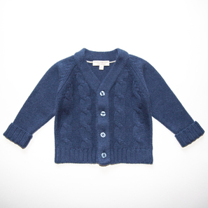 Cable Cardigan | 100% Cashmere, Colour: Navy | Code: 0715BC020151XXX