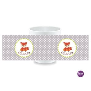 Kinderbecher, Kindertasse mit Namen Fuchs Dots  |  | Artikelnummer: kitassfuchs