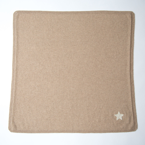 Cashmere Baby Blanket with Star | 100% Cashmere, Colour: Beige Mélange | Code: 0715IB010102S