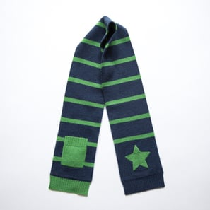 Scarf with Star and Pocket | 100% Cashmere, Colour: Navy | Code: 0715AS010151XXX