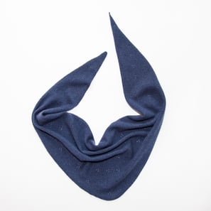 Triangle Scarf Ajour | 100% Cashmere, Colour: Navy | Code: 0117AS040151XXX