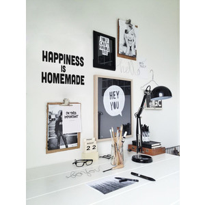 HAPPINESS IS HOMEMADE Wandsticker Typo Spruch Gr. M |  | Artikelnummer: 113236123