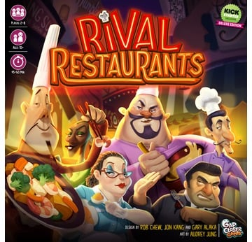 Rival Restaurants - Gourmet Bundle (Deluxe Game + Expansion) | Gap Closer Games | Artikelnummer: 8137-5368-3012