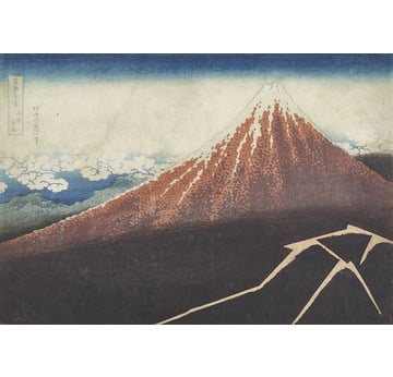 Thirty-six Views of Mount Fuji | Thunderstorm below the peak of Mount Fuji | Artikelnummer: PODE-KI-10997-A4