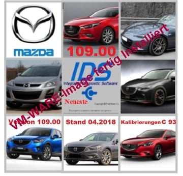 ​Mazda IDS 109.00 + Kalibrierungen c93 Diagnose Software von 04.2018 als VM-WARE fertig installiert | Alle Windows-Systeme ab Windows 7  nur 64bit  | Artikelnummer: 000001087