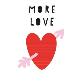 More Love | Plotter- und Applikationsvorlage | Artikelnummer: A20-0001