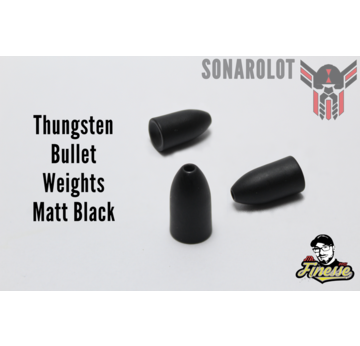 Tungsten Bullet Weights Matt Black | Bullet Weights Matt Black 1/8 Oz = 3,5g  | Artikelnummer: 100046