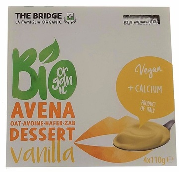 The Bridge Hafer Dessert Vanilla BIO 4x110g | MHD 31.08.19 | Artikelnummer: 100548