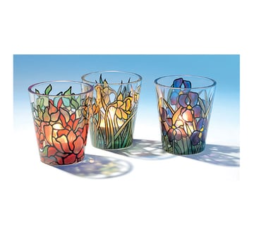 Louis C. Tiffany: 3 Glas-Windlichter |  Im Set | Artikelnummer: 722313