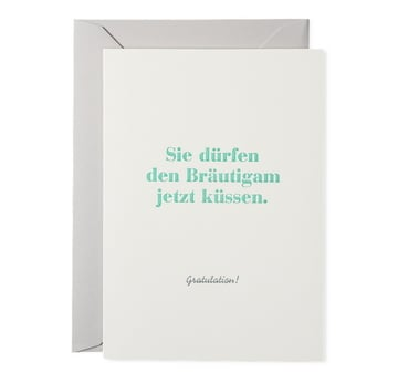 Sie dürfen den Bräutigam... / You may kiss the groom now | Kunstkarte Buchdruck / Letterpress Card | Artikelnummer: rsvp_braeu