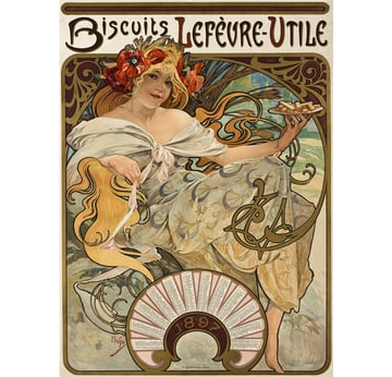 Biscuits Lefèvre-Utile | Advertising Poster 1896 | Artikelnummer: POD-PI-4453