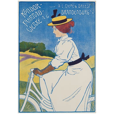 Kondor - Fahrradwerke A.-G. | Advertising Poster around 1910 | Artikelnummer: POD-PI-3384-A4S