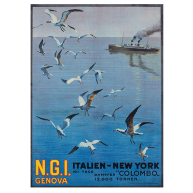 N.G.I. Genova. Italien - New York | Advertising Poster 1921 | Artikelnummer: POD-PI-588-A3S