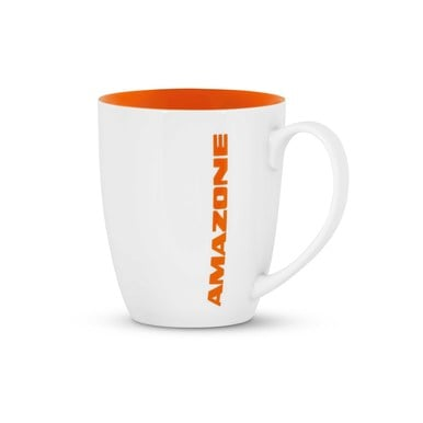 Kaffeebecher, weiß/orange  |  | Artikelnummer: ML1050